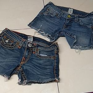 True Religion Cut Off Shorts.. Two pairs
